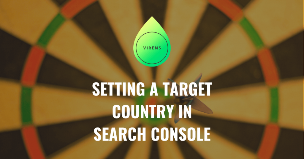 setting a target country in google search console