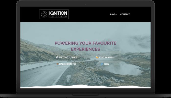 ignition travel website screengrab
